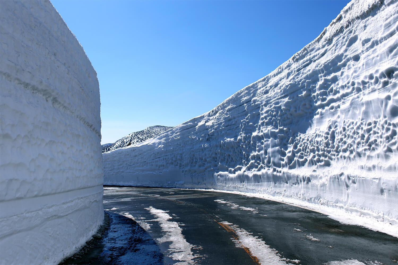蔵王エコーライン雪の壁