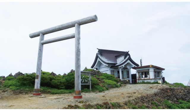 Zao Kattamine Shrine/ the summit of Zao (Rear Shrine)